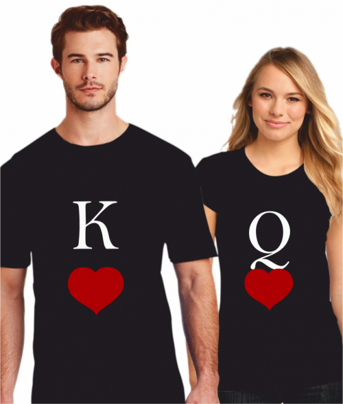 KING AND QUEEN OF HEARTS - BLACK