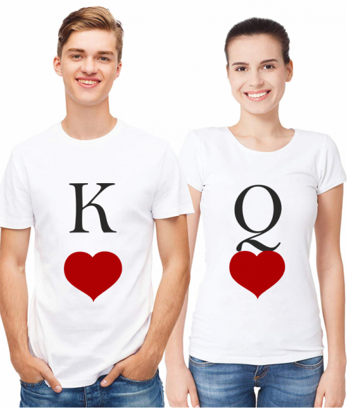 KING AND QUEEN OF HEARTS - WHITE
